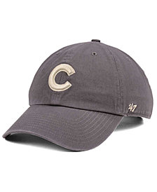 '47 Brand Chicago Cubs Dark Gray CLEAN UP Cap