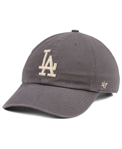 '47 Brand Los Angeles Dodgers Dark Gray CLEAN UP Cap