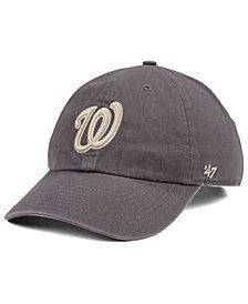 '47 Brand Washington Nationals Dark Gray CLEAN UP Cap