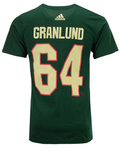 adidas Men's Mikael Granlund Minnesota Wild Silver Player T-Shirt