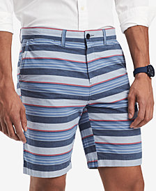 """Tommy Hilfiger Men's Brighton Stripe 9"""" Shorts, Created for Macy's"""