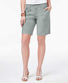 Style & Co Petite Zip-Detail Shorts, Created for Macy's