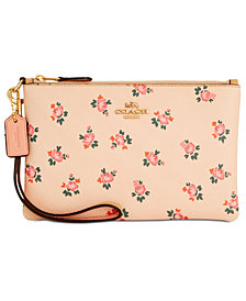 COACH Boxed Small Wristlet with Floral Bloom