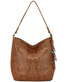 The Sak Indio Embossed Leather Bucket Extra-Large Hobo