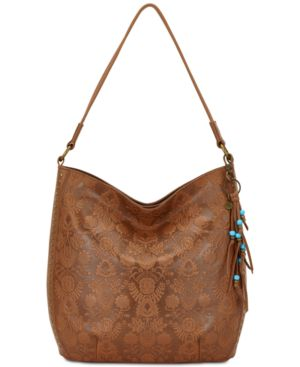 The Sak Indio Embossed Leather Bucket Extra-Large Hobo 5670273