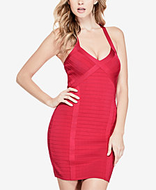 GUESS Crisscross Bodycon Dress