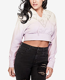 GUESS Davina Cropped Graphic Hoodie