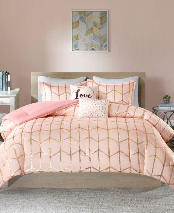 Blush Arielle Brushed Comforter Set (King/California King) 5pc