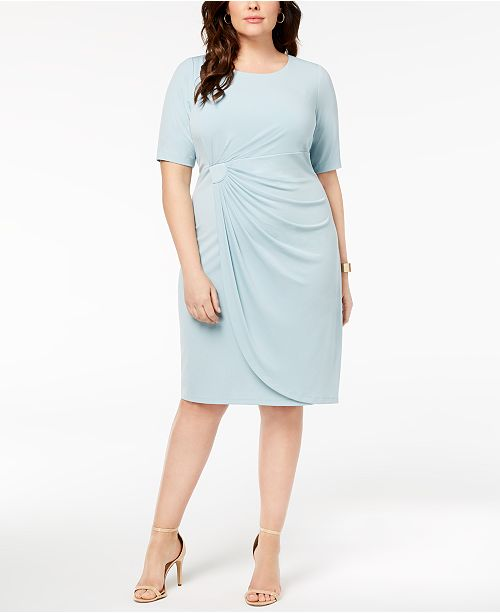 Connected Plus Size Solid Sarong Dress Dresses Macys
