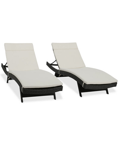 Curio Outdoor Chaise Lounge (Set Of 2), Quick Ship