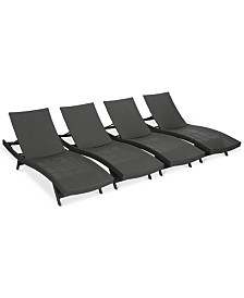 Carmel Outdoor Chaise Lounge (Set Of 4), Quick Ship
