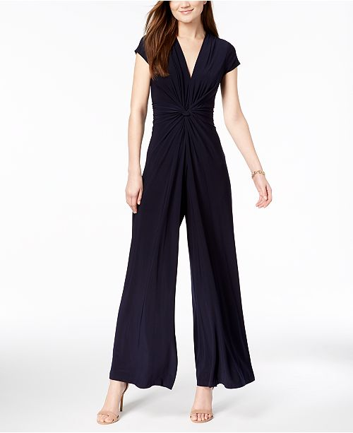 c08d681b6e Vince Camuto Twist-Front Plunge Jumpsuit   Reviews - Pants   Capris ...