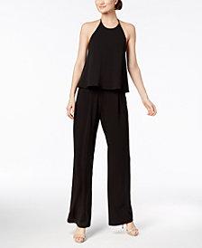 Calvin Klein Popover Crepe Jumpsuit