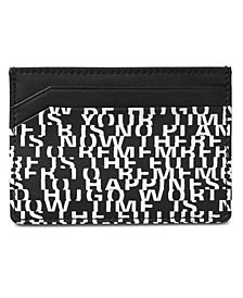 Hugo Boss Men's Printed Leather Card Case