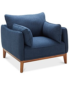 "Jollene 39"" Fabric Armchair, Created for Macy's"