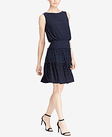 Lauren Ralph Lauren Polka-Dot Dress, Regular & Petite Sizes