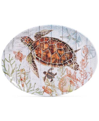 Certified International Sanibel Melamine Oval Platter