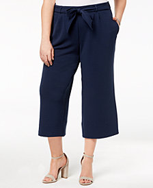 John Paul Richard Plus Size Crepe Cropped Pants