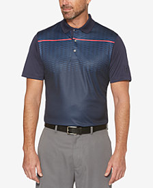 PGA TOUR Men's Diamond-Print Polo