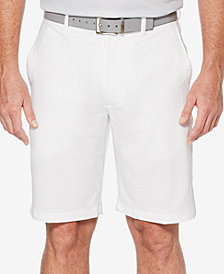 PGA TOUR Men's 10'' Grid-Print Shorts