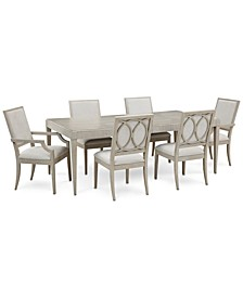 Rachael Ray Cinema Expandable Dining 7-Pc. Set (Rectangular Dining Table, 4 Side Chairs & 2 Arm Chairs)