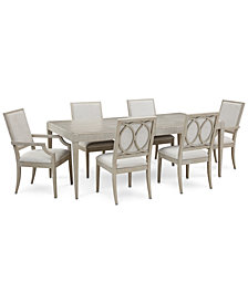 Rachael Ray Cinema Expandable Dining Furniture, 7-Pc. Set (Rectangular Dining Table, 4 Side Chairs & 2 Arm Chairs)