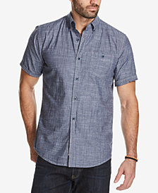 Weatherproof Vintage Men's Chambray Shirt with Cuff Detail