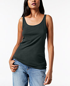 Eileen Fisher Silk Jersey Tank Top, Regular & Petite