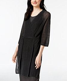 Eileen Fisher Belted Kimono Cardigan