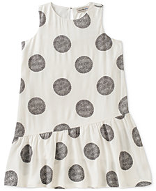 Calvin Klein Asymmetrical Flounce Dress, Big Girls