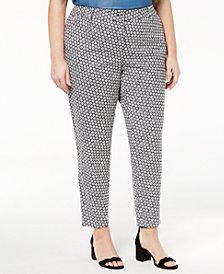 MICHAEL Michael Kors Plus Size Printed Ankle Pants