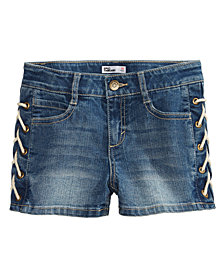 Epic Threads Denim Lace-Up Shorts, Big Girls, Created for Macy's