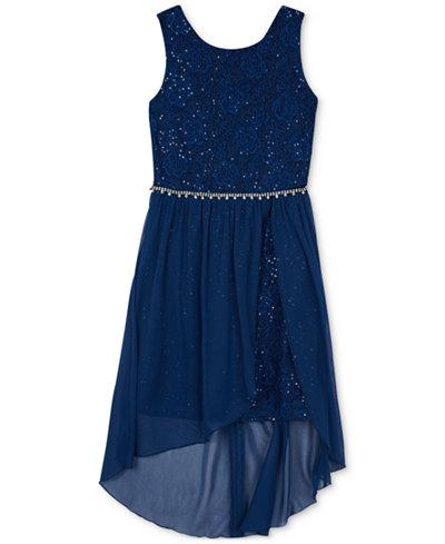 BCX Sequin High-Low Hem Dress, Big Girls