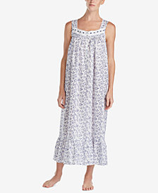 Eileen West Petite Printed Ballet Woven Nightgown