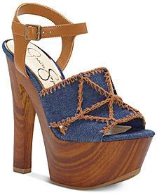 Jessica Simpson Dezzie Mega Wood-Platform Sandals