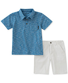Calvin Klein 2-Pc. Pocket Polo & Shorts Set, Toddler Boys