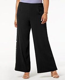 Love Scarlett Plus Size Pull-On Sailor Pants