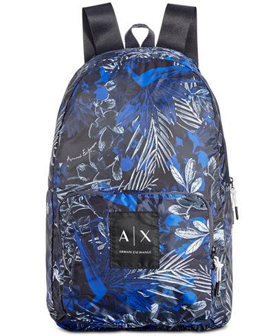 Armani Exchange Men's Floral-Print Backpack