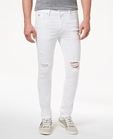 Men's White Stretch Skinny Fit Jeans
