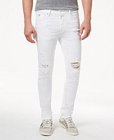 GUESS Men's White Stretch Skinny Fit Jeans