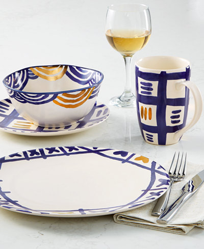 Crafted by Wainwright Pompeii Blu Dinnerware Collection, Created for Macy's