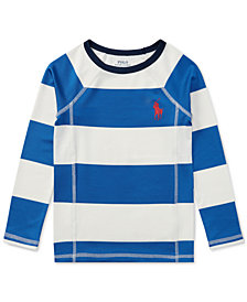 Ralph Lauren Striped Rash Guard, Little Boys