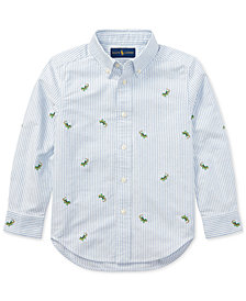 Ralph Lauren Embroidered Cotton Shirt, Little Boys