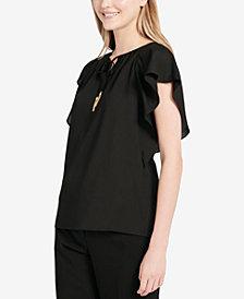Calvin Klein Flutter-Sleeve Top