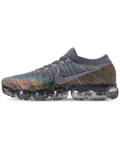 designer fashion 5a5c9 4a513 Nike Men's Air VaporMax Flyknit Running Sneakers from Finish ...