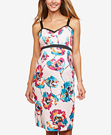 Motherhood Maternity Floral-Print Sleeveless Dress