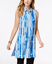 Alfani Printed Tunic Shirt, Created for Macy's