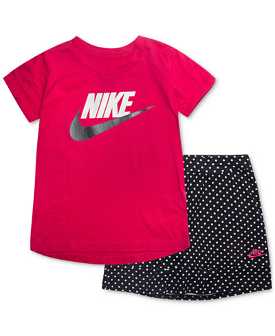 Nike Pc LogoPrint TShirt Scooter Skort Set Little Girls - Free invoice software pc nike factory outlet store online