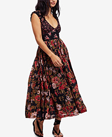 Free People Love You Printed Cotton Midi Dress