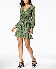 MICHAEL Michael Kors Smocked Mini Dress, Created for Macy's